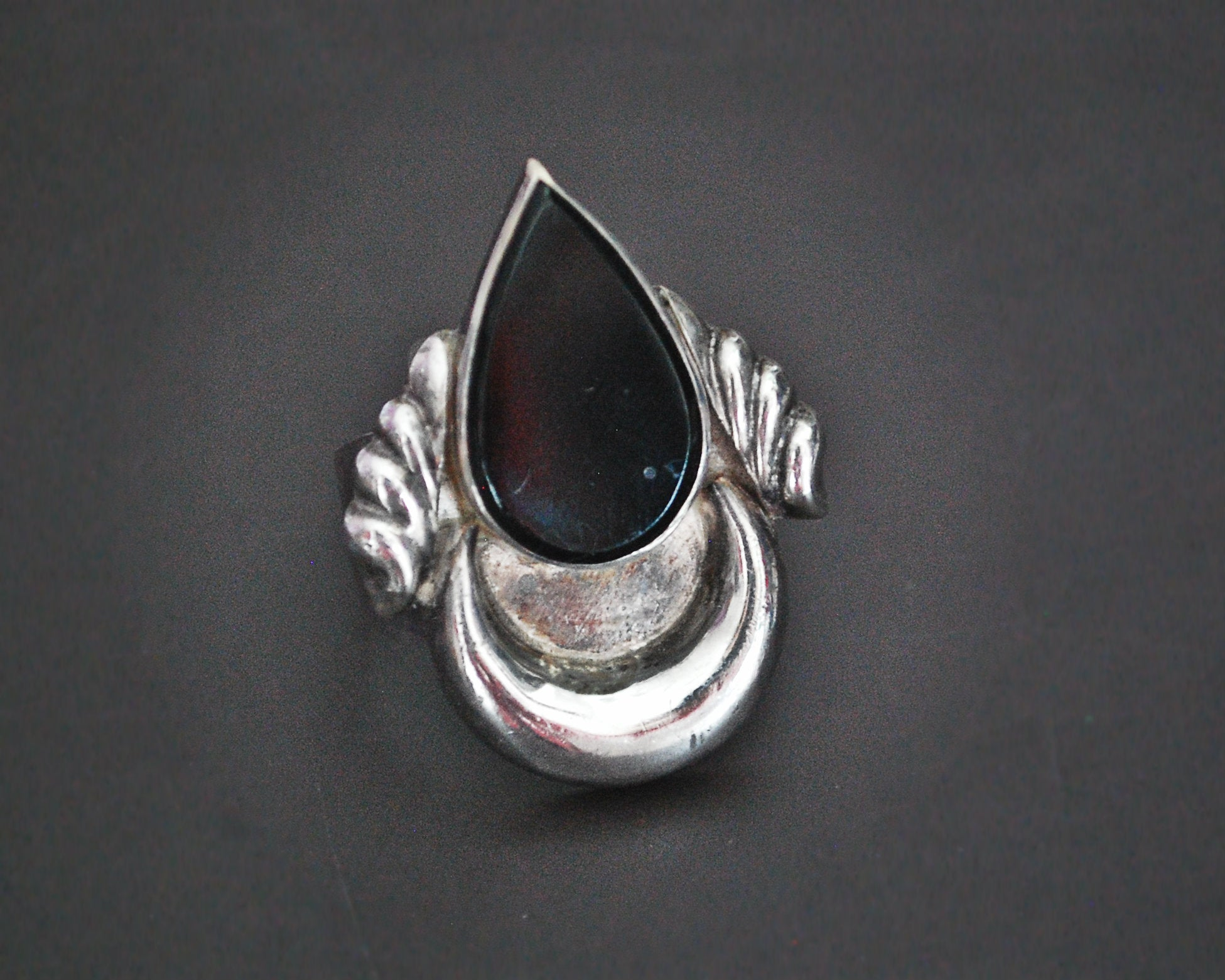 Ethnic Onyx Ring from India - Size 9