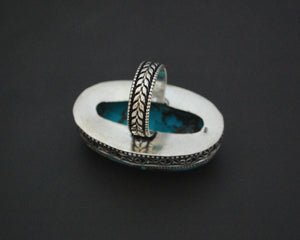 Ethnic Turquoise Ring from India - Size 8.5