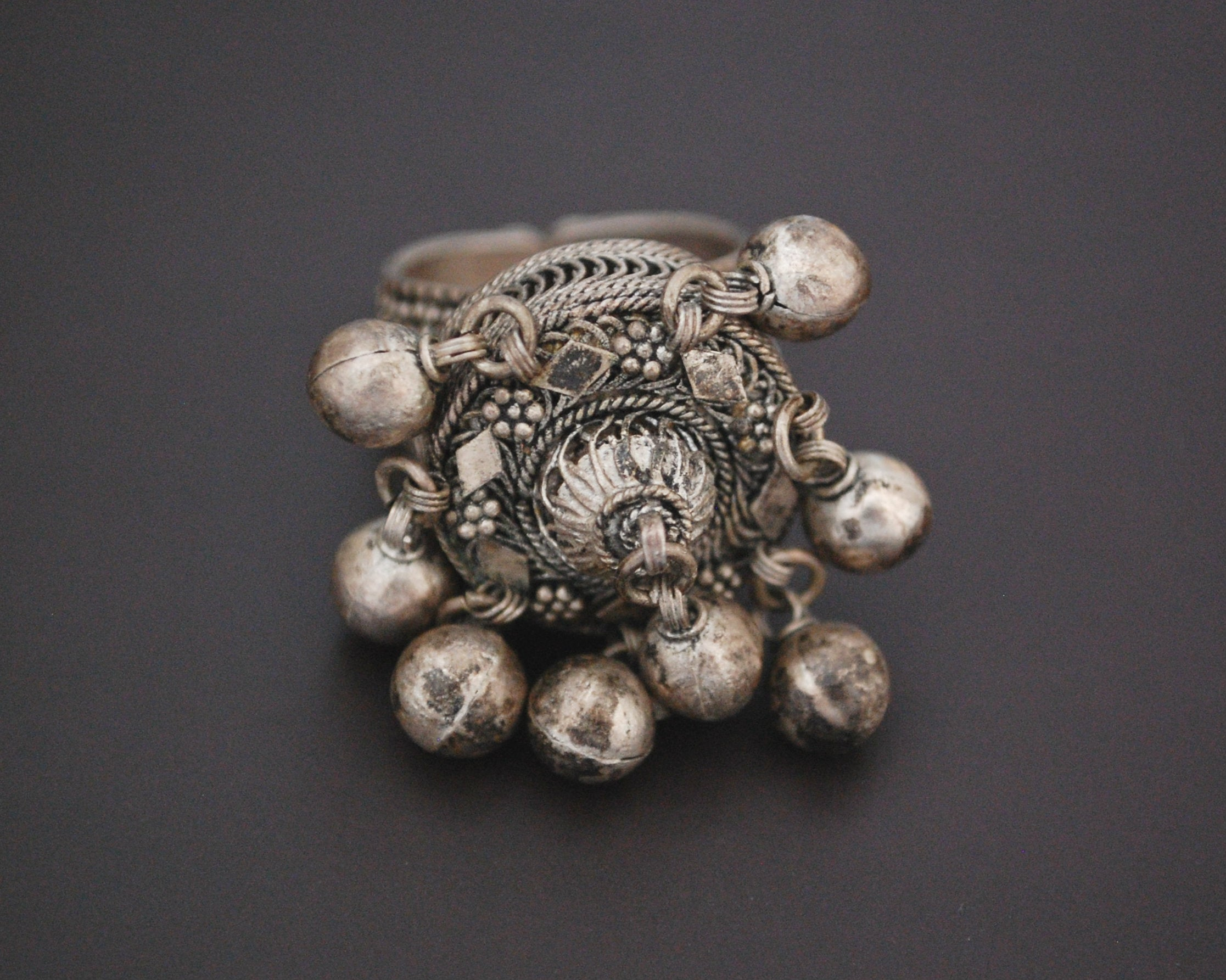 Yemeni Bedouin Ring with Bells - Size 7.25