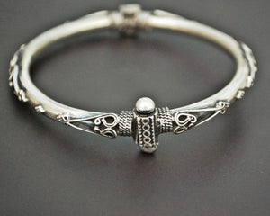 Indian Hinged Silver Bracelet