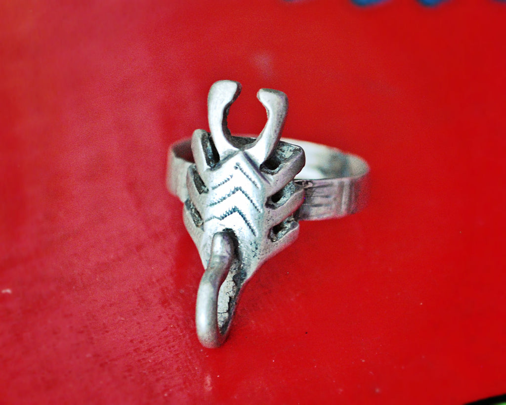 Old Tuareg Scorpion Ring - Size 10.5 - Rare