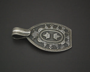 Ethnic Silver Pendant with Dotwork