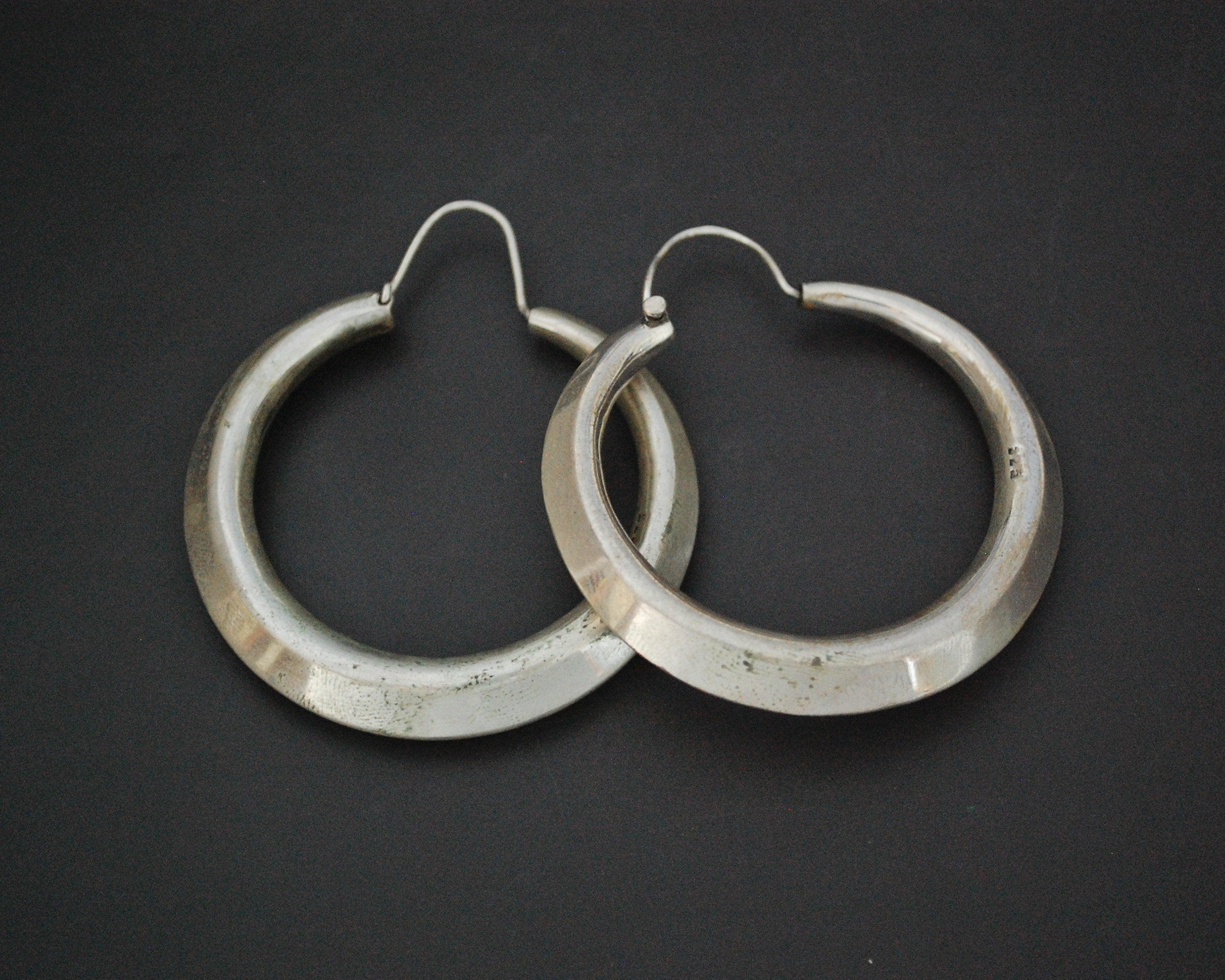 Huge Sterling Silver Hoop Earrings - XLARGE