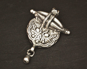 Rajasthani Silver Amulet with Bell