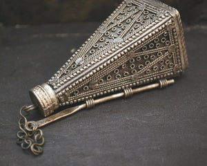 Yemeni Silver Khol Container