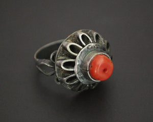 Old Coral Ring - Size 8