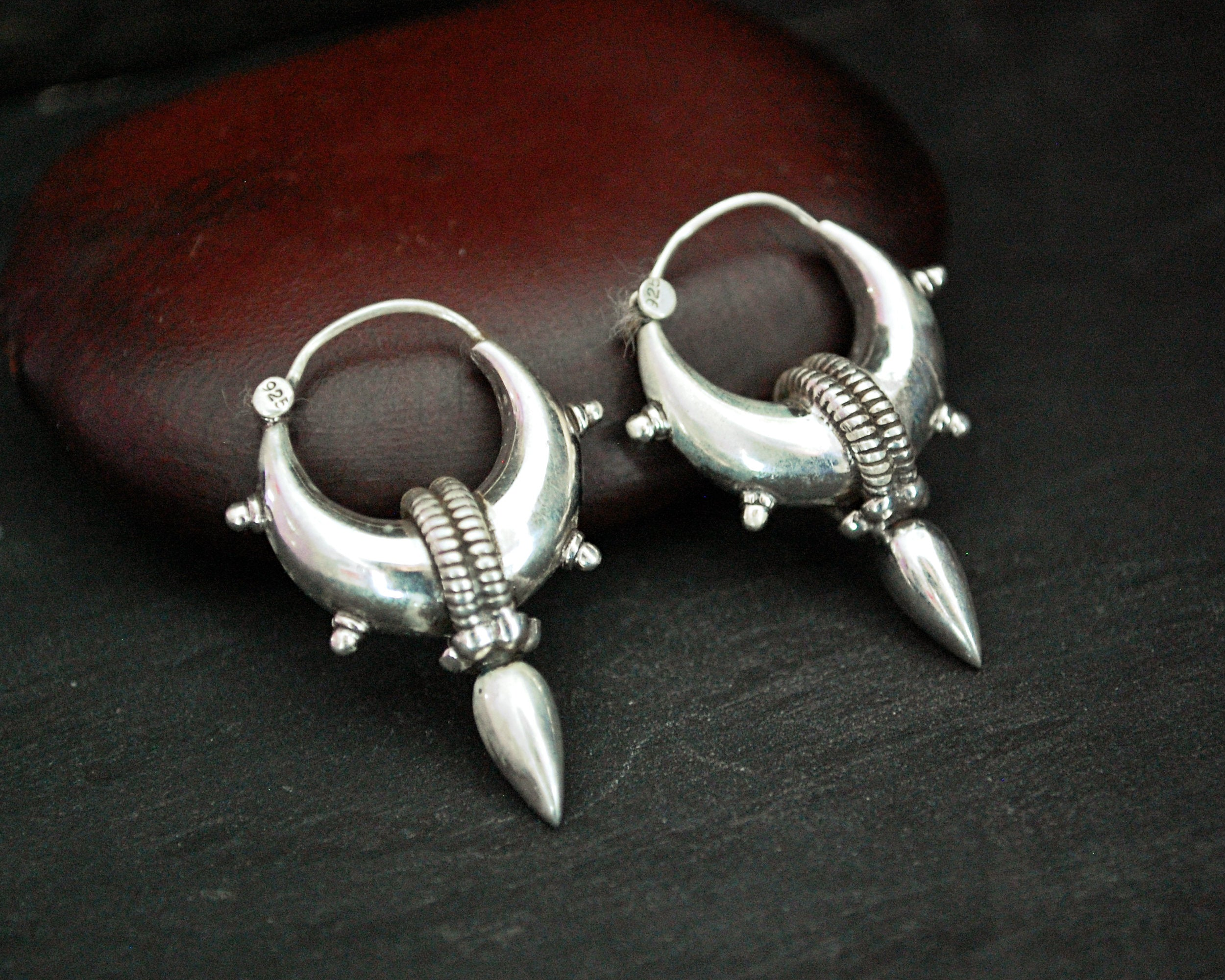 Rajasthani Spike Hoop Earrings - SMALL