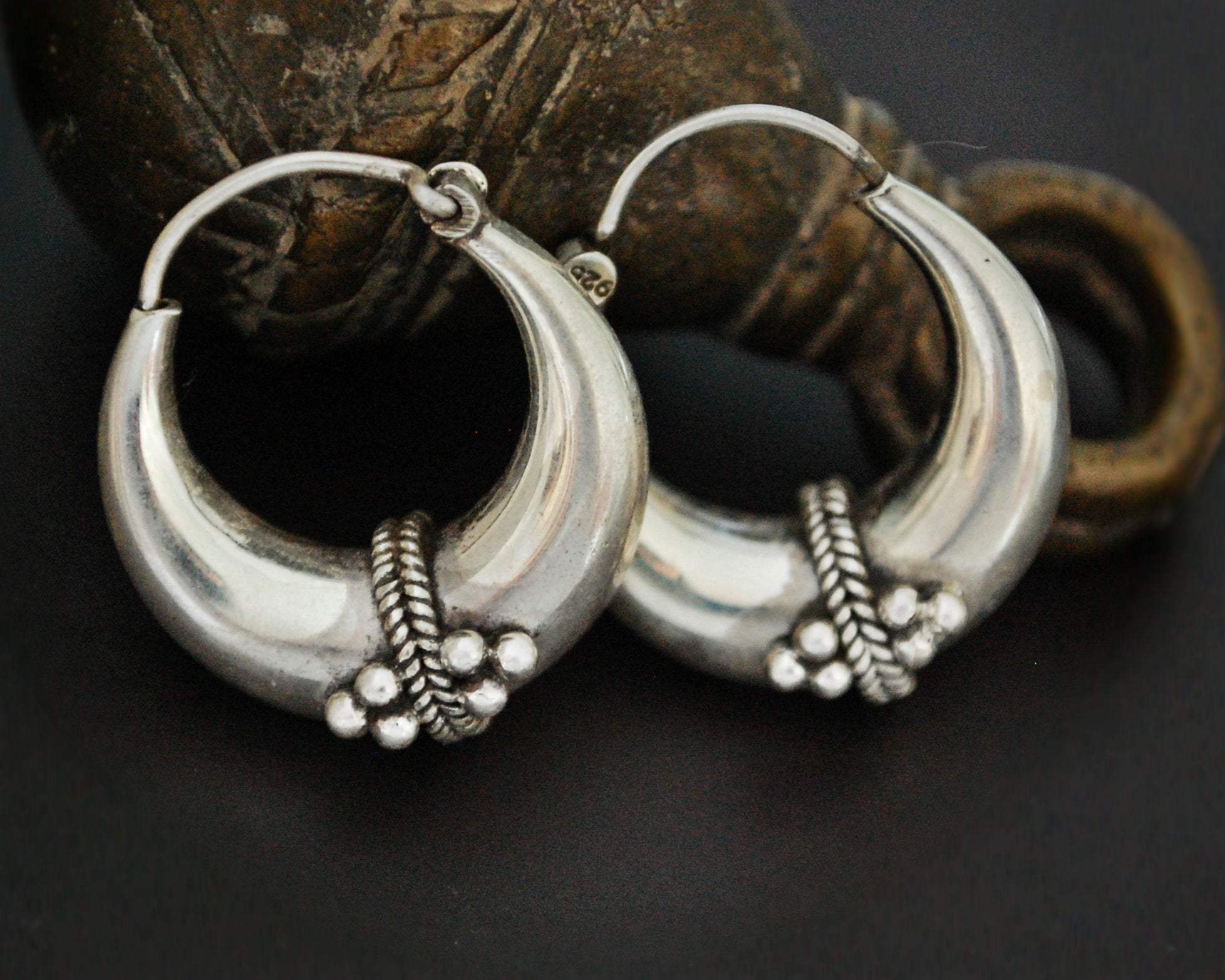 Ethnic Hoop Earrings from India - SMALL/MEDIUM