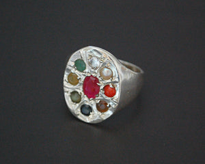 Navaratna Indian Astrology Ring - Size 7.75