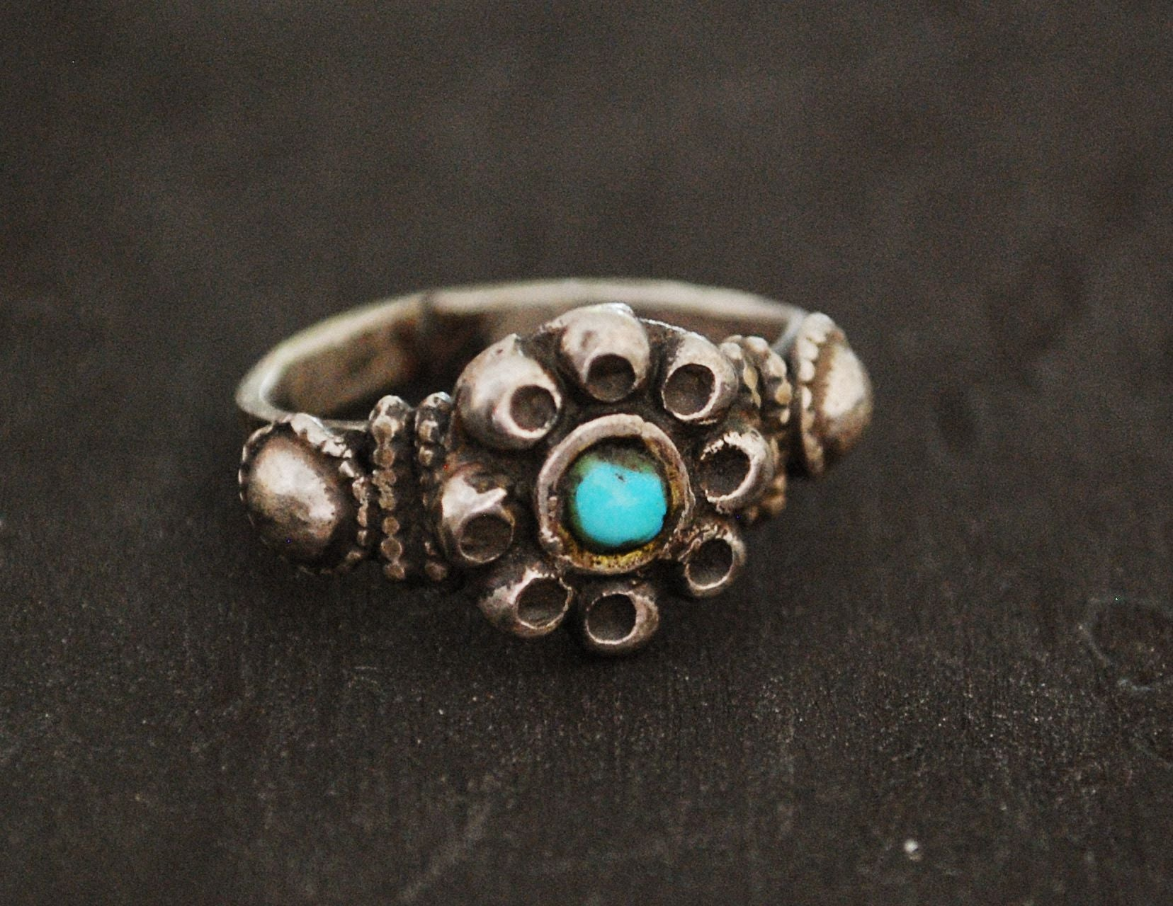 Rajasthani Turquoise Ring - Size 6 - Rajasthani Ring - Rajasthani Jewelry - India Silver Ring - Indian Tribal Ring - Ethnic Jewelry