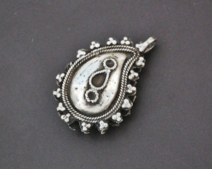 Indian Paisley  Silver Pendant