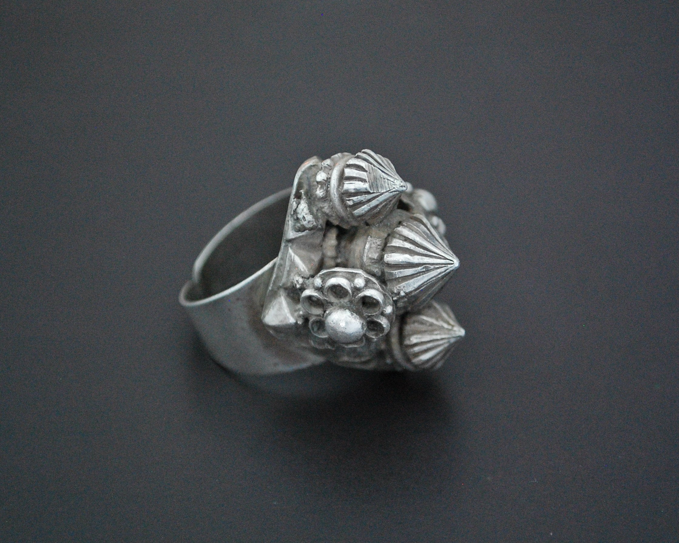 Tribal Indian Silver Ring - Size 9 Adjustable