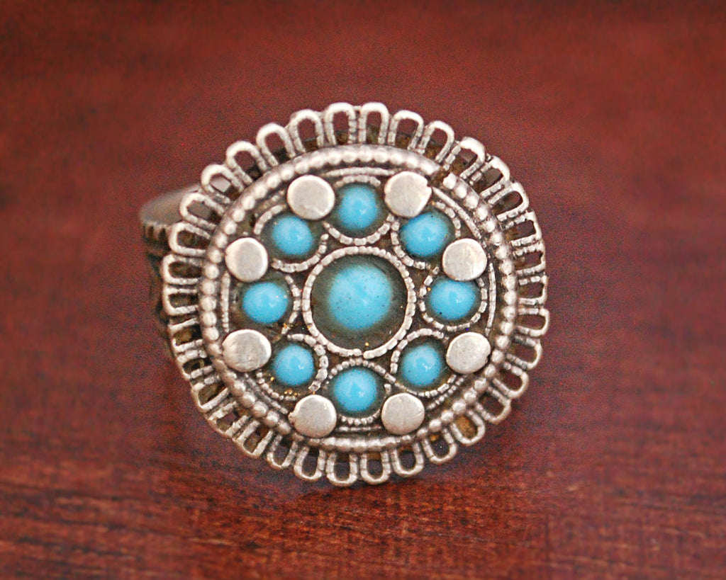 Afghani Turquoise Ring - Size 6.75