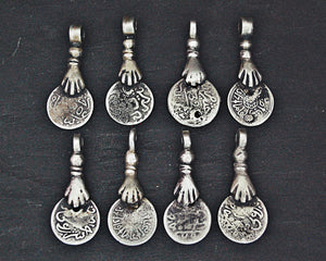 Old Berber Coin Pendants - Set of Four