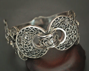 Tunisian Hinged Silver Bracelet