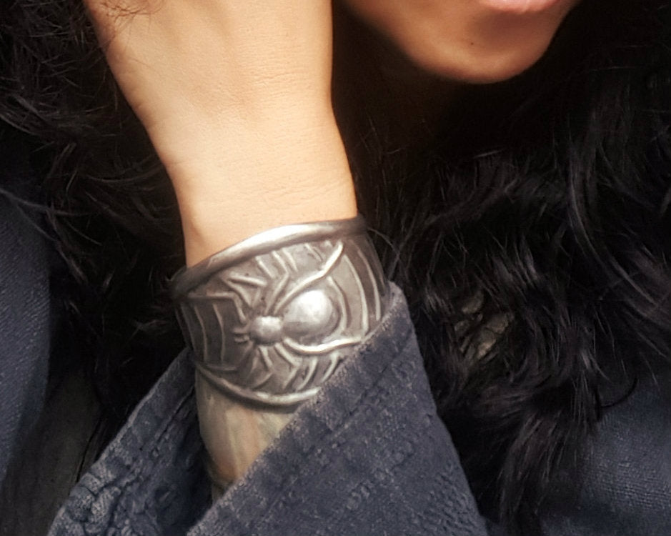 Wide Mexican Spider Cuff Bracelet