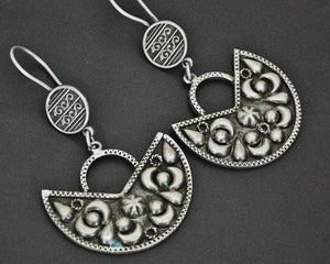 Egyptian Silver Dangle Earrings