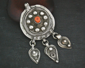 Old Berber Coral Pendant from Morocco