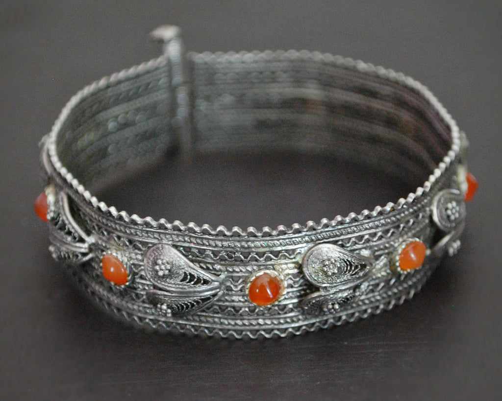 Yemeni Filigree Bracelet with Carnelian