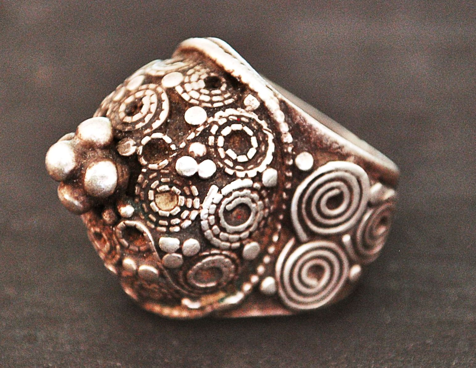 Antique Rajasthani Silver Ring - Size 8.5