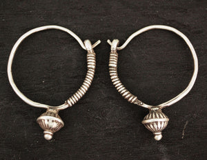 Afghani Poppy Hoop Earrings