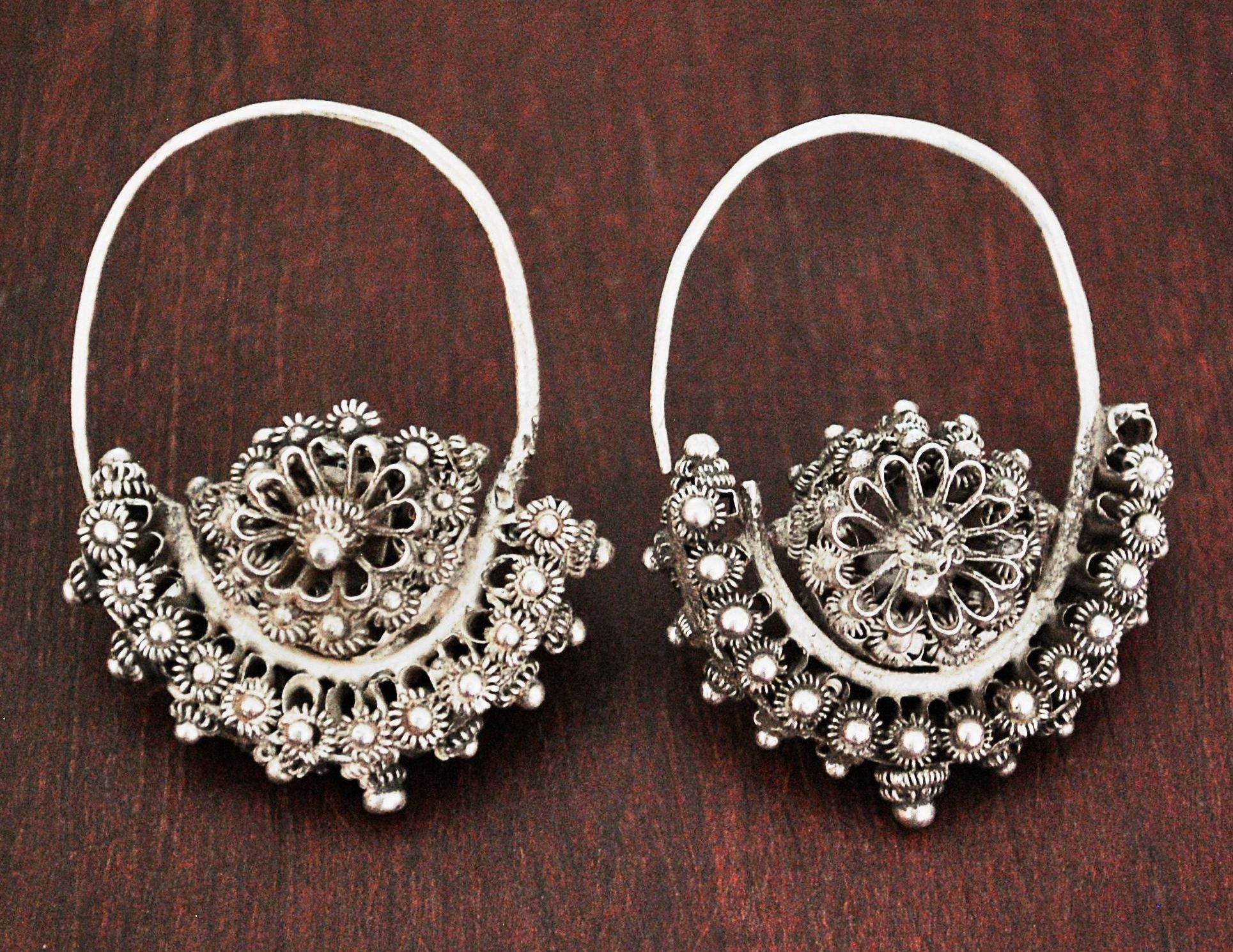 Antique Uyghur Earrings from China