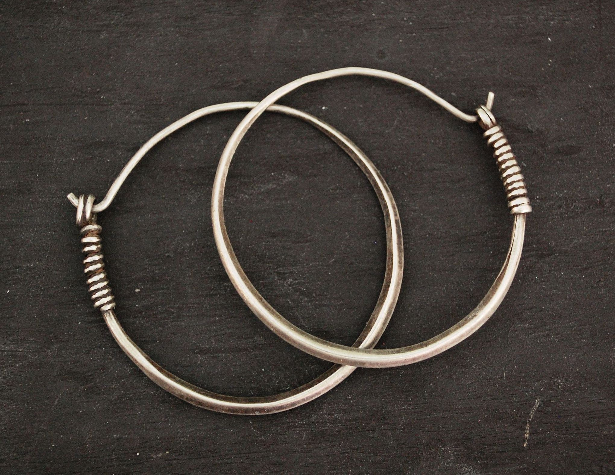 Antique Afghani Hoop Earrings