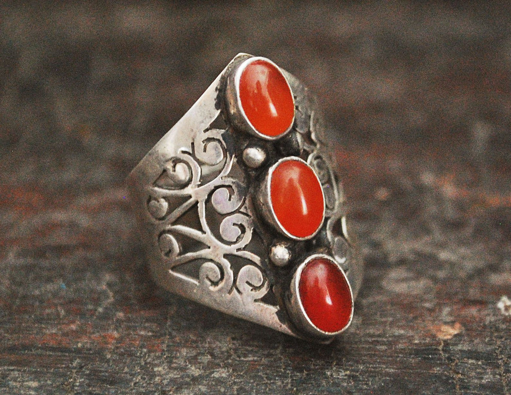 Indian Carnelian Ring - Size 8