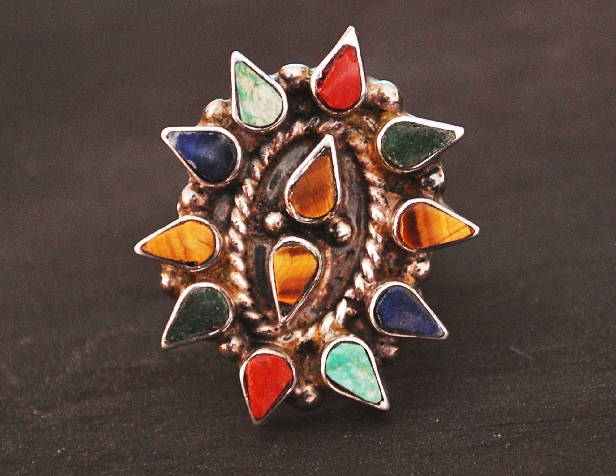 Ethnic Multistone Ring - Size 5.5