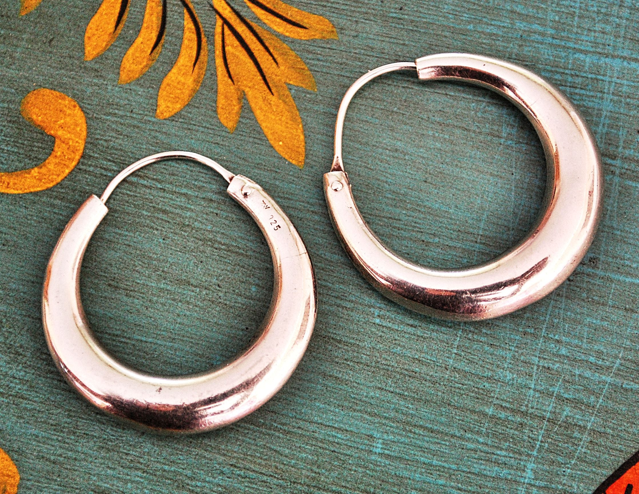 Ethnic Hoop Earrings - Medium