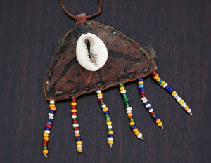 Fulani Leather Beaded Necklace