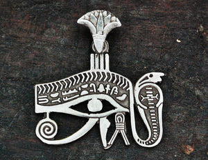 Eye of Horus Silver Amulet from Egypt