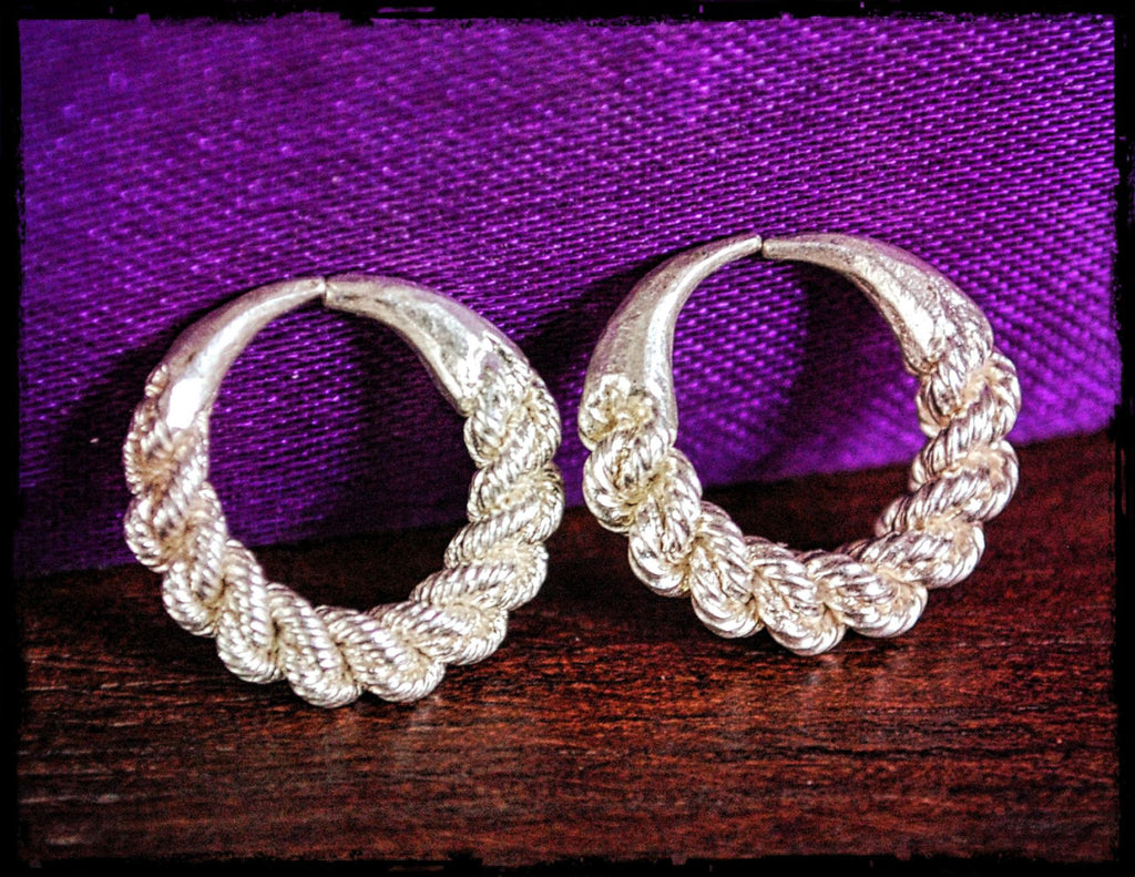 Tribal Fulani Hoop Earrings - Tribal Twisted Hoop Earrings - Ethnic Tribal Hoop Earrings - Fulani Jewelry - Fulani Hoop Earrings