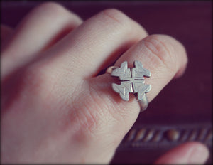 Ethnic Cross Ring - Size 7.5