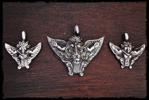 Garuda Pendant - Small and Large - Sterling Silver Garuda Pendant - Hindu Silver Pendant - Mythological Amulet - Garuda Jewelry