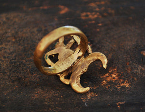 Old Lobi Scorpion Brass Ring - Size 10.5