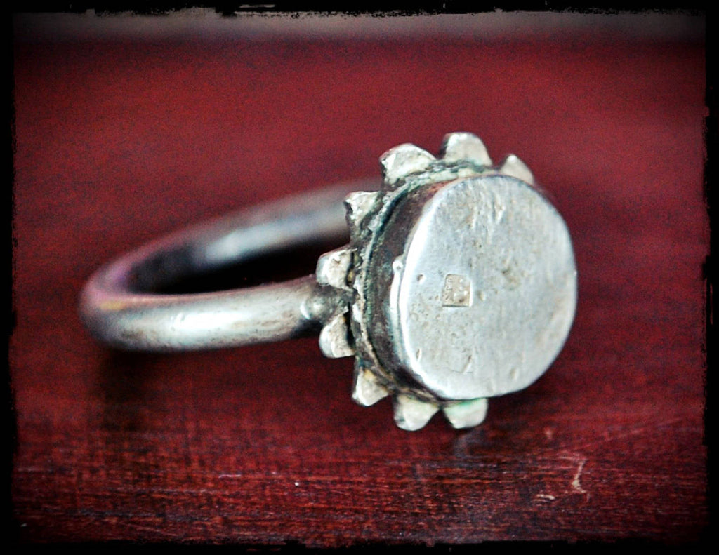 Old Tuareg Silver Ring - Size 9.5