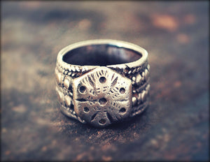 Antique Tribal Rajasthan Silver Ring - Size 5.5