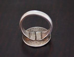 Indian Coin Ring - Size 8.5 - Indian Tribal Ring - Tribal Coin Ring - Ethnic Coin Ring - Indian Coin Jewelry - Indian Jewelry