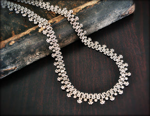 Rajasthani Silver Necklace - Indian Silver Necklace - Rajasthani Jewelry - Indian Necklace - Indian Jewelry