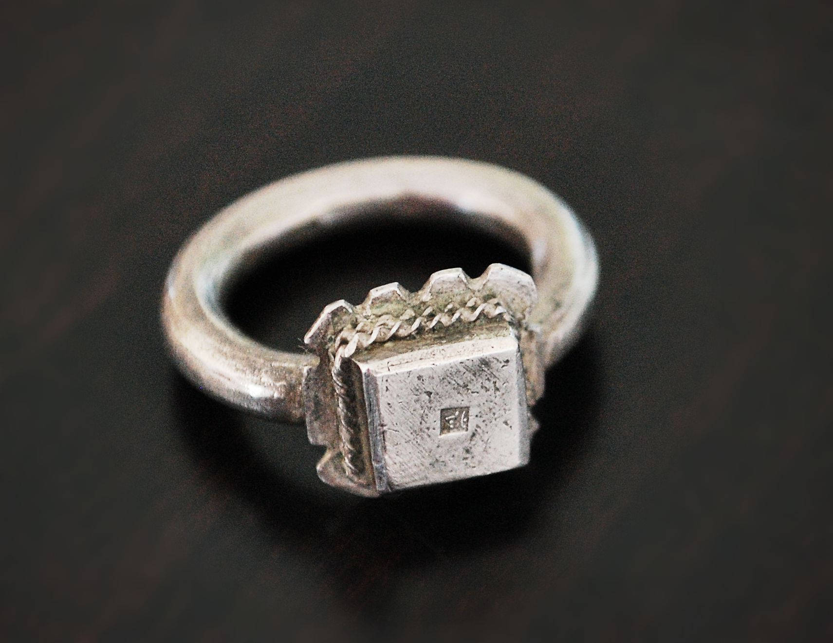 Antique Ethiopian Silver Ring - Size 7.5