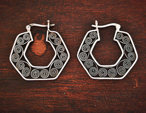 Ethnic Hoop Earrings