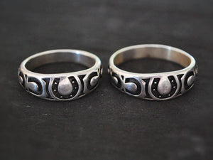 Navajo Horseshoe Ring - Size 11.25 & 14 - Horseshoe Ring - Good Luck Ring