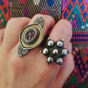 Tribal Kazakh Silver Ring - Size 9 - Central Asia Ethnic Tribal Ring - Ring from Kazakhstan - Tribal Silver Ring - Kazakh Jewelry