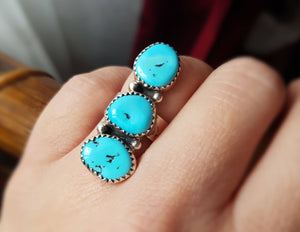 Navajo Turquoise Ring - Size 5+