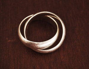 Double Band Ring - Size 6.5 - Multiband Ring - Minimalist Ring - Sterling Silver Minimalist Jewelry - Boho Ring