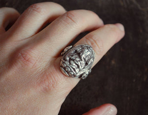 Ganesha Sterling Silver Ring - Size 8.5 - Large