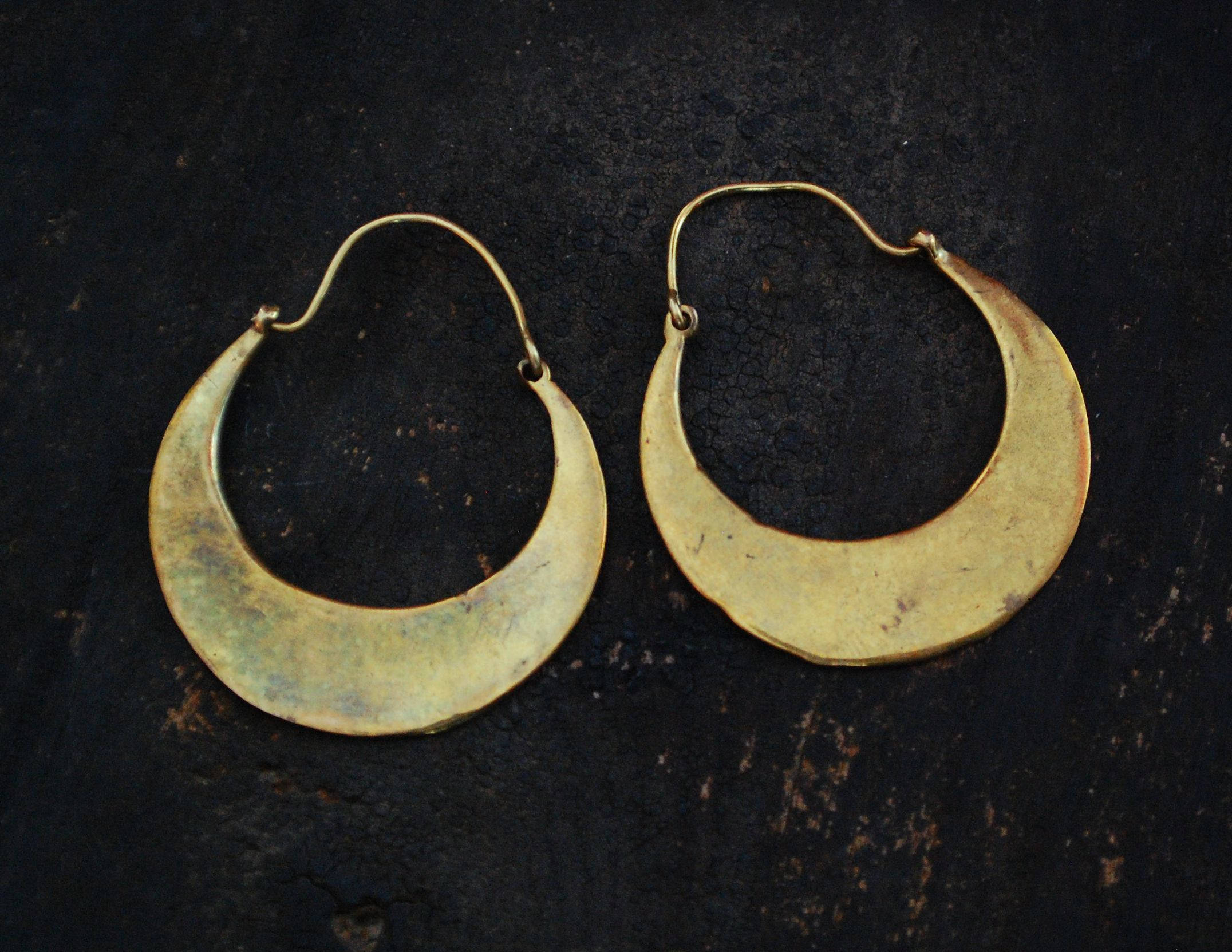 Ethnic India Hoop Earrings - Medium