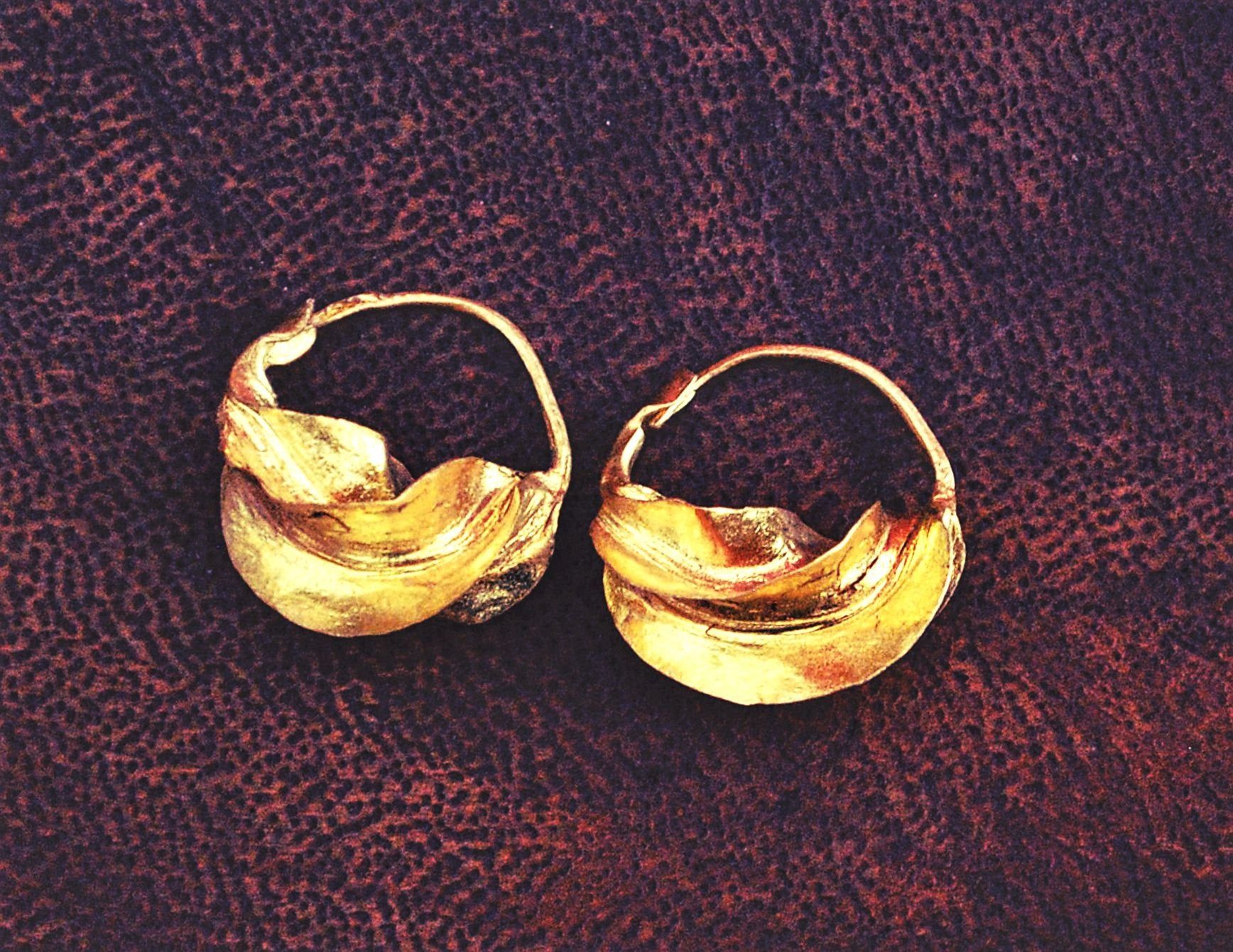 Tribal Fulani Hoop Earrings XS - Gold Plate Copper Hoop Earrings- Ethnic Tribal Hoop Earrings - Fulani Jewelry - Fulani Hoop Earrings