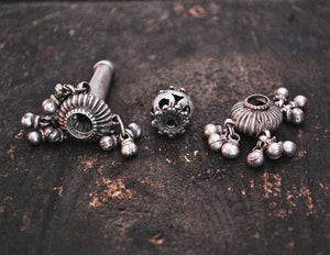 Indian Tribal Silver Beads - Lot of Three
